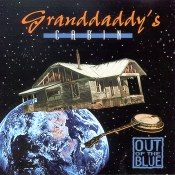 Granddaddy's Cabin CD cover, Out of the Blue, banjo, cabin